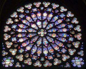 Rose Window, Notre Dame, Parisb